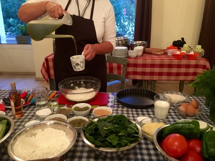 Making filo pastry dough - Athens Cooking Lessons
