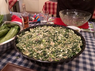 Spinach and cheese pie filling - Athens Cooking Lessons