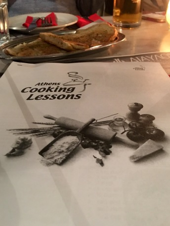 Recipes from the evening - Athens Cooking Lessons