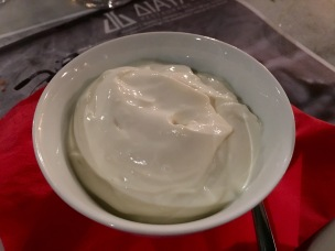 Greek yoghurt dessert