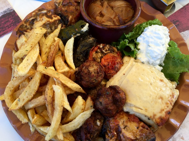 Share plate of Greek specialties