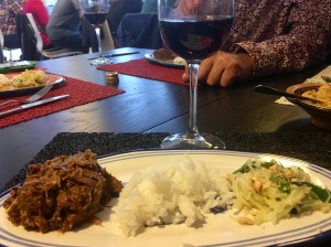 Lamb Rendang with green papaya salad - Balinese 'Market Tour to Plate', Spice Bazaar