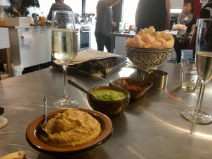 Balinese snacks with a glass of Prosecco - Balinese 'Market Tour to Plate', Spice Bazaar