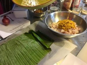 Kaffir lime ginger snapper in banana leaf - Balinese 'Market Tour to Plate', Spice Bazaar